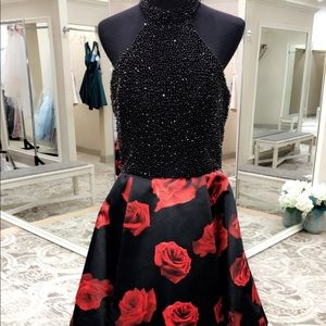 Jovani Black & Roses Dress